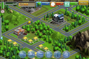 Ecran de jeu de Virtual City sur iPhone