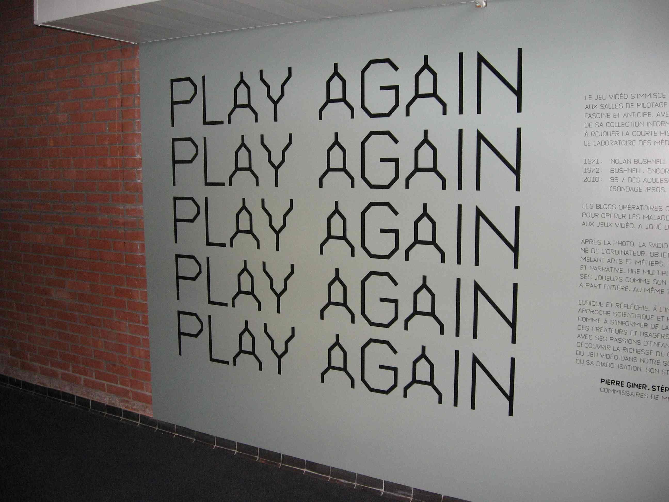 Photo du mur Play Again Retro Gaming