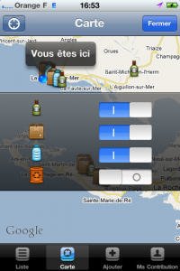 Application iPhone Ecopoints par WakeApps