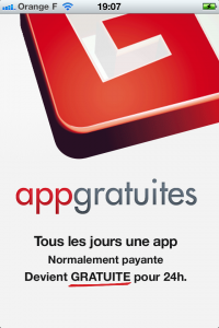 Ecran de l'application iPhone AppGratuites