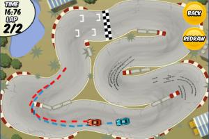Image d'un circuit dans le jeu iPhone DrawRace