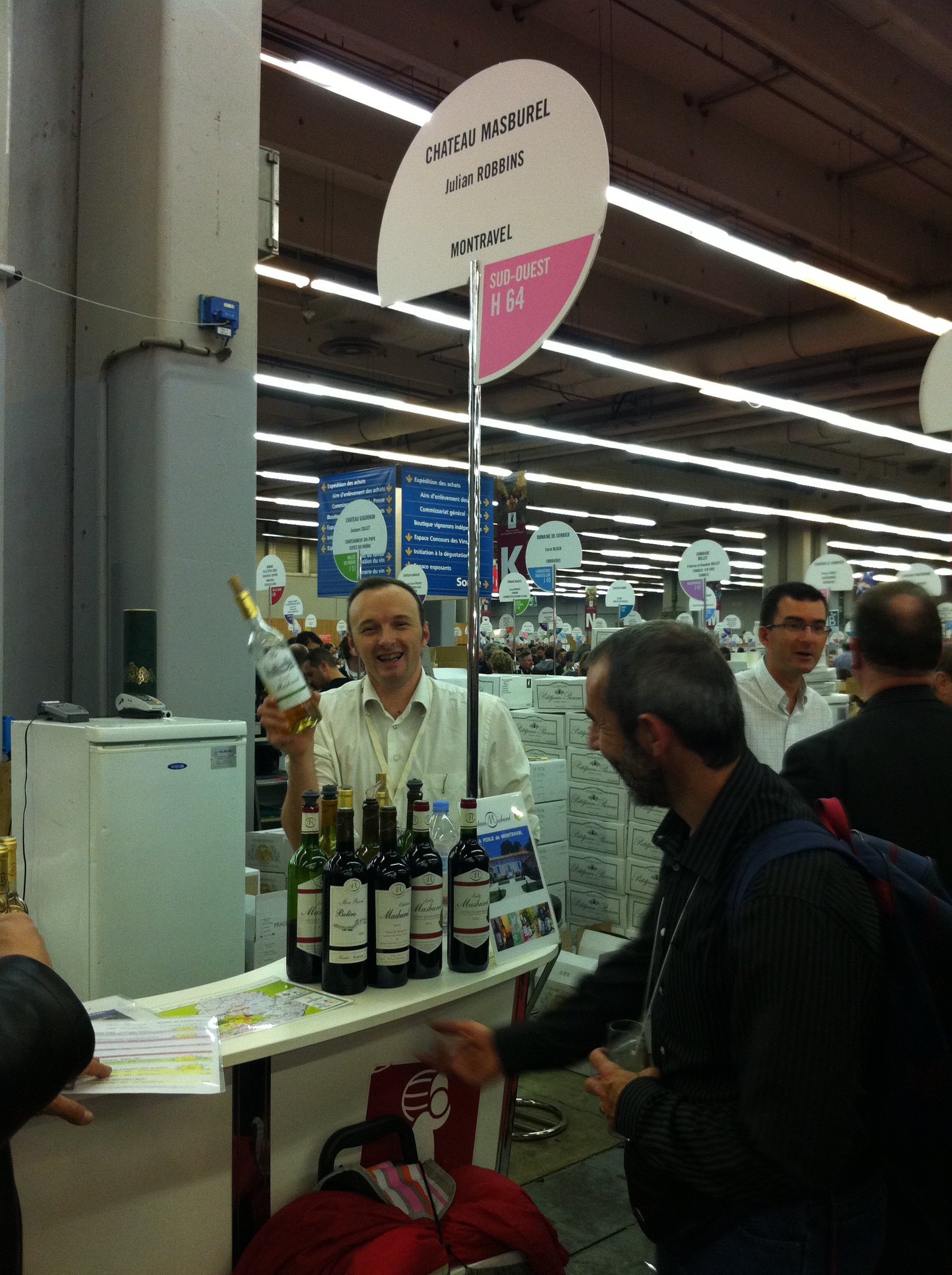 Photo d'un exposant au salon des vignerons indépendants de Paris 2011