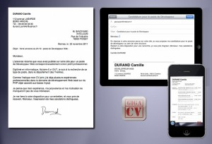 Une autre image de l'application iPhone et iPad giga-cv