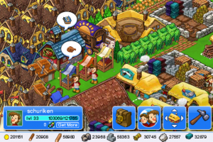 Image de mon village dans le jeu iPhone Trade Nations