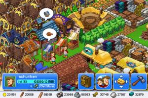 Image de mon village dans le jeu iPhone Trade Nations