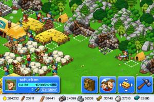 Encore une image de mon village dans le jeu iPhone Trade Nations