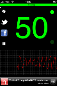 Image de l'application iPhone Heart Rate