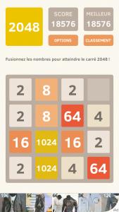 Image du jeu 2048 sur iPhone