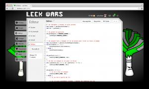Page d'édition du code dans Leek Wars