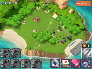 Image d'une attaque dans Boom Beach